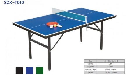 乒乓球mini台迷你x型室内四脚柱乒乓球桌SZX-T010