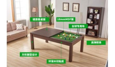 会议桌饭桌台球桌一体详细介绍