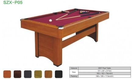 MDF中纤板台球桌SZX-P05