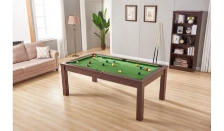 会议桌饭桌台球桌一体褐色款