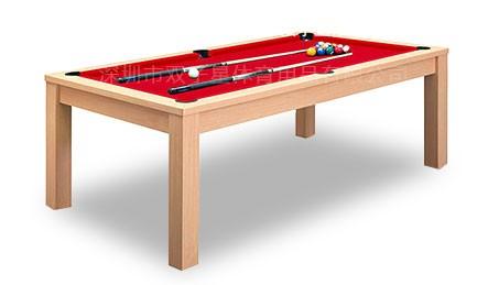 双子星新款室内多功能两用桌球台木色款