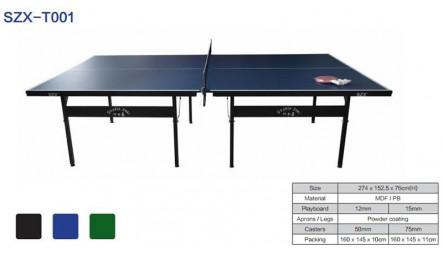 可折叠单折无轮室内乒乓球台SZX-T001