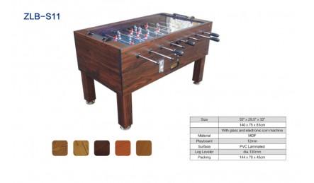 8杆实木贴皮桌上足球机SZX-S11