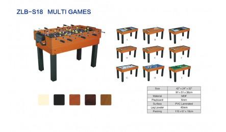 8杆多功能桌上足球机SZX-S18