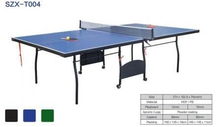拱型腿可折叠可移动室内乒乓球桌SZX-T004
