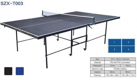 轻便型可折叠带轮可移动室内乒乓球桌SZX-T003