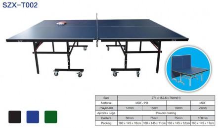 可折叠可移动带轮乒乓球台SZX-T002
