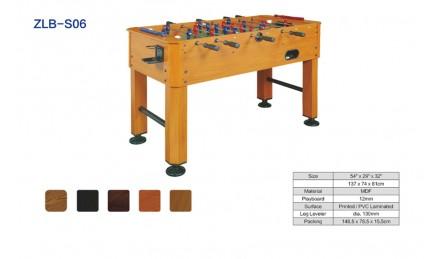 8杆实木纹桌上足球机SZX-S06