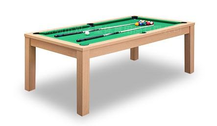 新款室内多功能两用台球桌-木色款