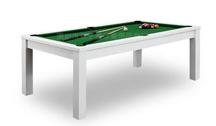 双子星新款室内多功能两用桌球台白色款