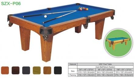 MDF中纤板台球桌SZX-P06