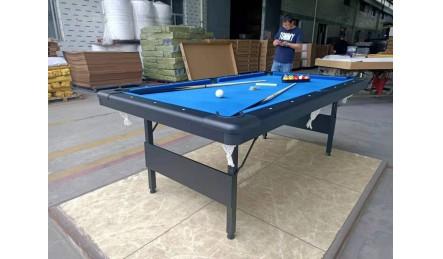 折叠铁架腿家用黑八九球台球桌