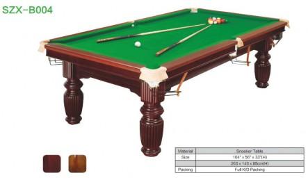 中式黑八实木台球桌SZX-B004