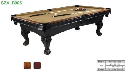 MDF中纤板台球桌SZX-P21