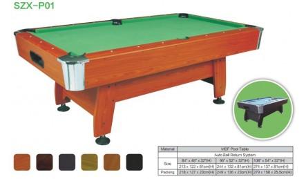 MDF中纤板台球桌SZX-P01
