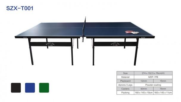双子星体育用品标准实用型单折不移动式乒乓球台