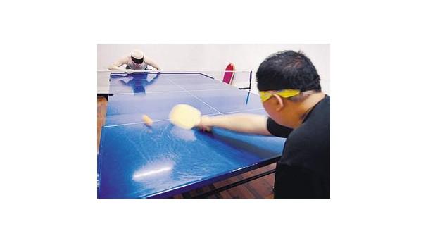 盲人乒乓球台以及盲人乒乓球规则