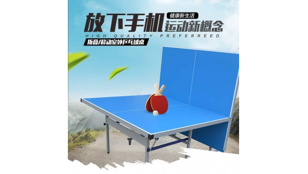 双子星体育用品折叠式乒乓球桌,方便搬运或组装