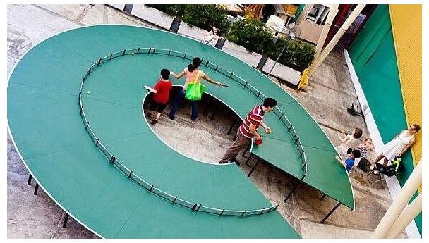 """创意球台——""""圆圆""""不绝的乒乓球台"""