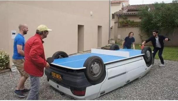 老外是怎样将乒乓球玩得出神入化了?