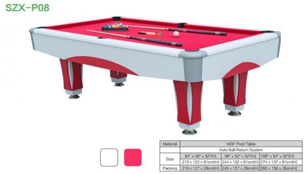 国际标准下的各种台球桌尺寸,台球桌种类