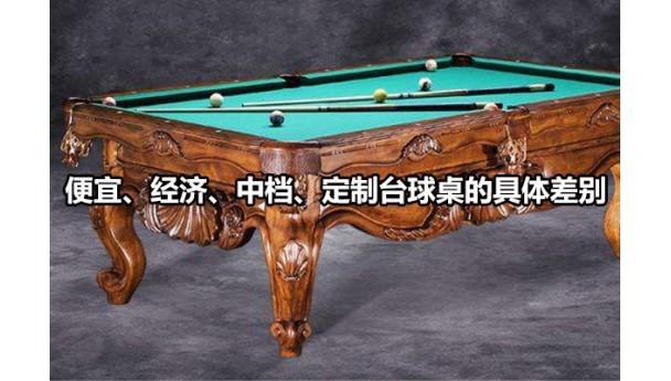 便宜、经济、中档、定制台球桌的具体差别