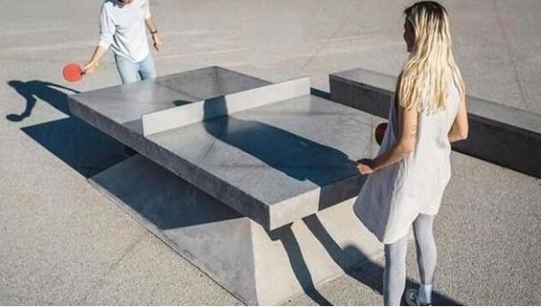 不一样的乒乓球台,水泥乒乓球台也能高大上