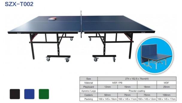 双子星体育体育乒乓球台T002的技术评测