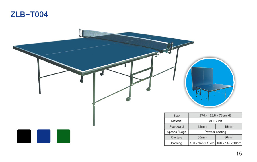 可折叠可移动室内乒乓球桌ZLB-T004