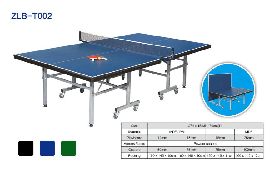 可折叠可移动室内乒乓球桌ZLB-T002
