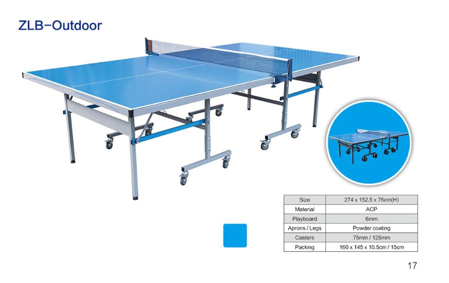 可折叠可移动室外乒乓球桌ZLB-Outdoor