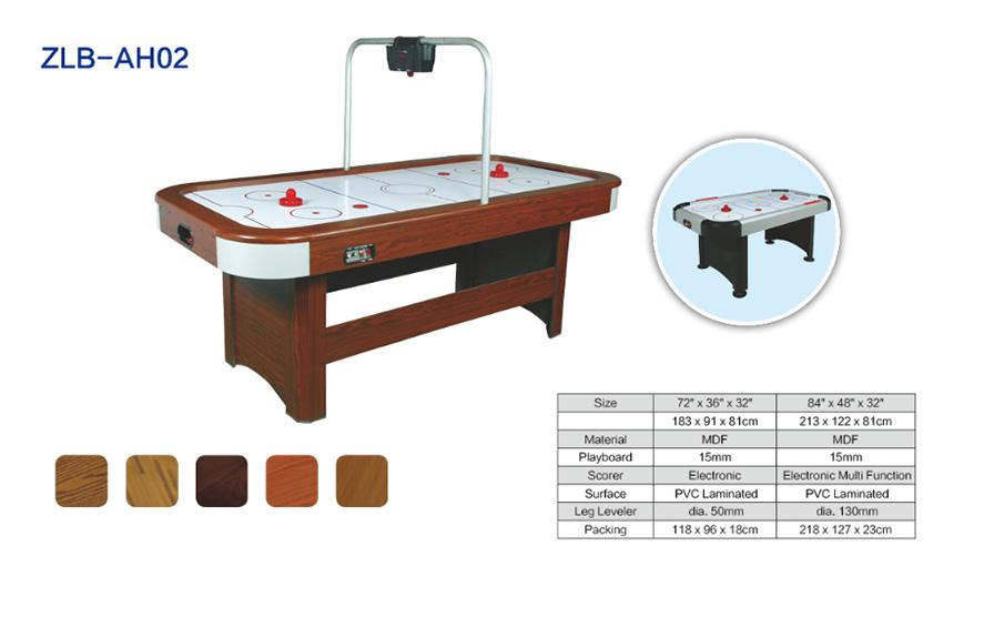 自带计分器木纹空气曲棍球台ZLB-AH02